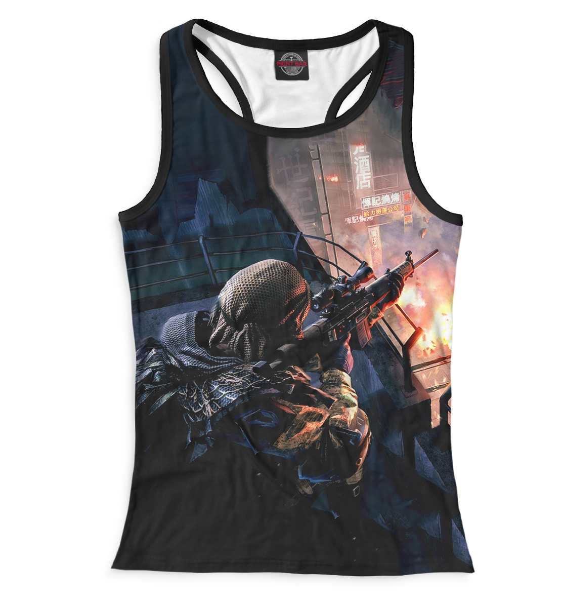 Купить Warface, Printbar, Майки борцовки, RPG-690040-mayb-1