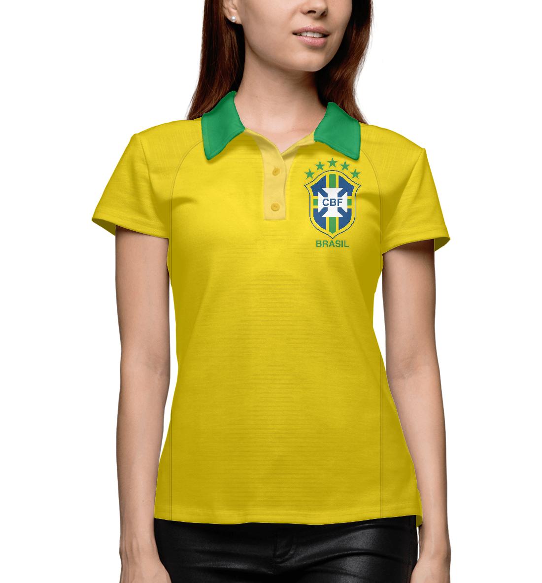 Купить Форма Сборной Бразилии 2018, Printbar, Поло, FNS-723130-pol-1