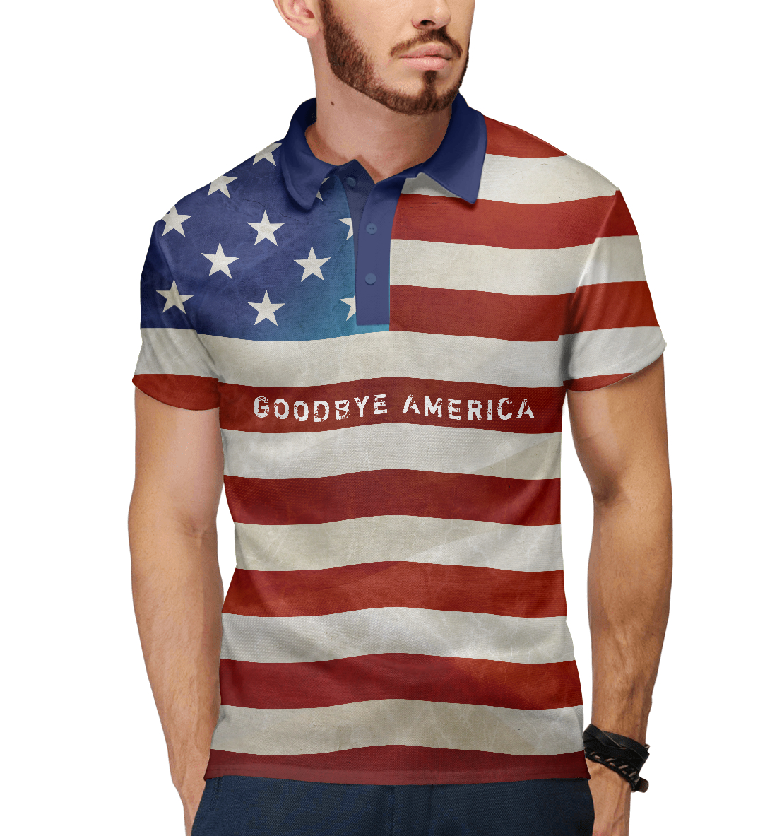 Купить Гудбай Америка, Printbar, Поло, HIP-659465-pol-2