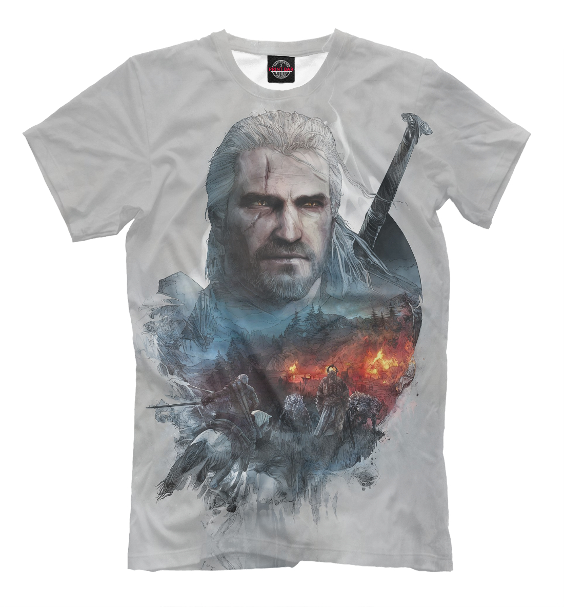 Купить The Witcher 3: Wild Hunt, Printbar, Футболки, WTR-406749-fut-2