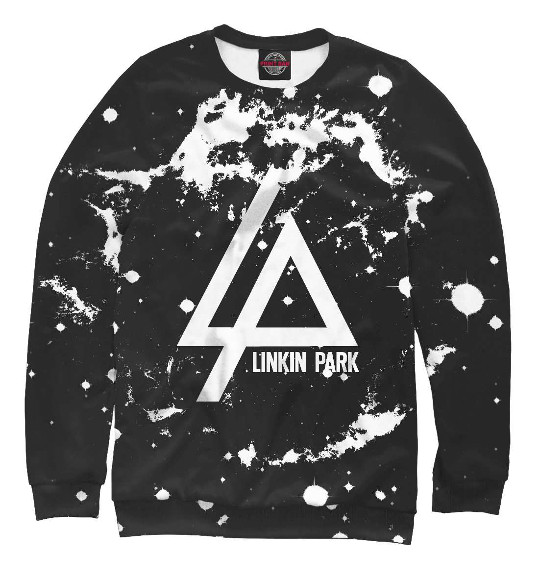 Купить Linkin Park Star Space white, Printbar, Свитшоты, LIN-876539-swi-2