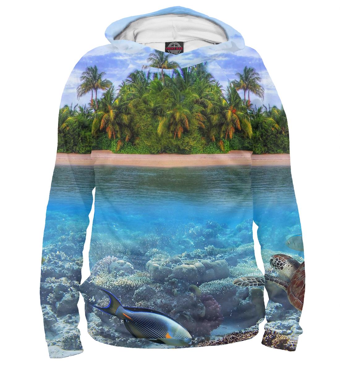 Купить Тропический остров, Printbar, Худи, PEY-401053-hud-2