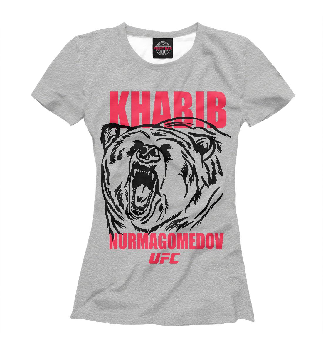 Купить Khabib Nurmagomedov UFC, Printbar, Футболки, NUR-692018-fut-1
