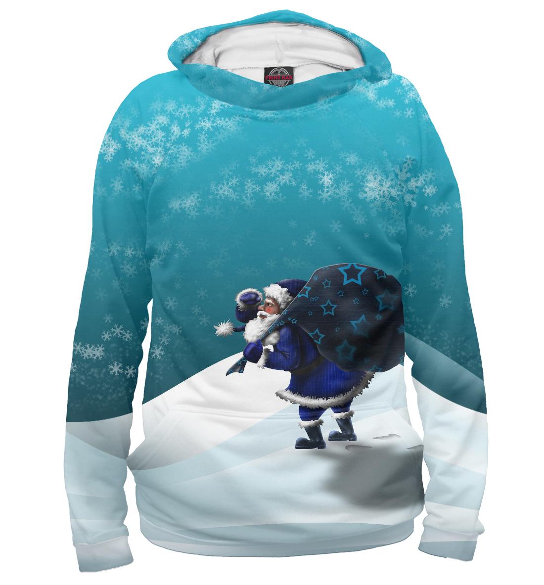 Купить Дедушка мороз несет подарки, Printbar, Худи, NOV-864141-hud-1