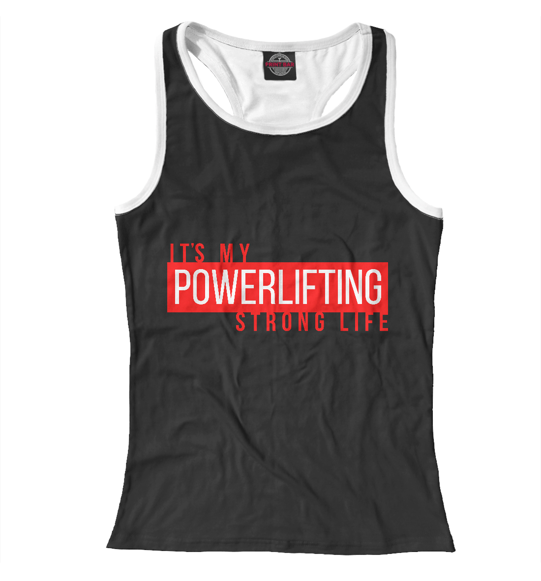 Купить Powerlifting its my life, Printbar, Майки борцовки, PWL-799877-mayb-1