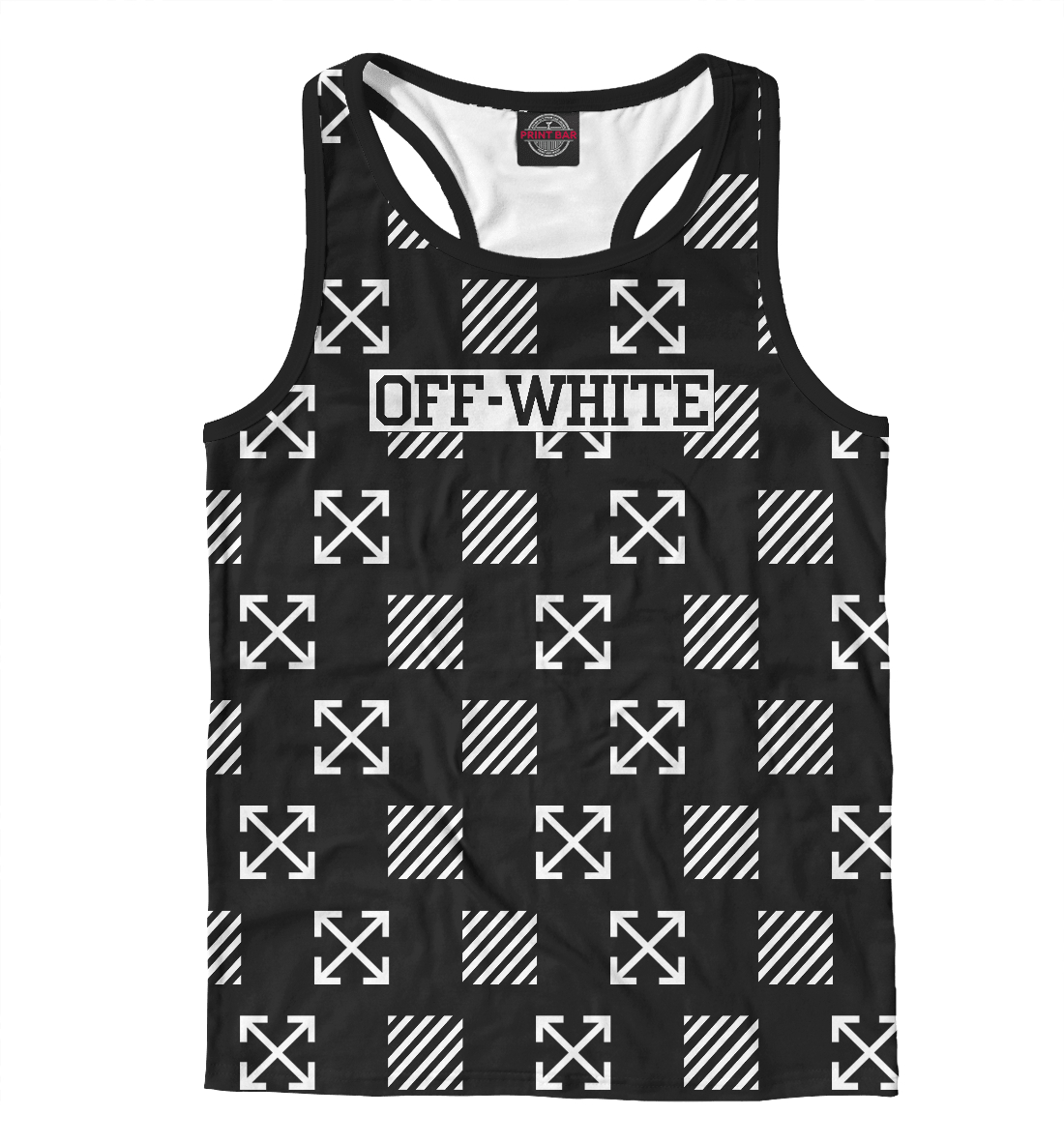 Купить Off-White, Printbar, Майки борцовки, APD-366281-mayb-2
