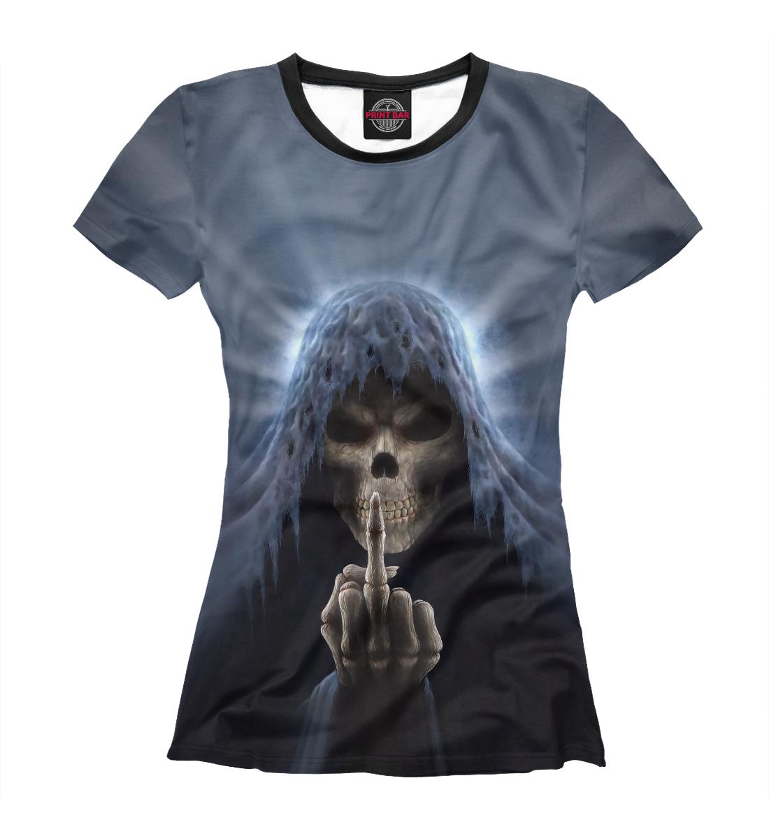 Купить Смерть показывает палец, Printbar, Футболки, SKU-330039-fut-1