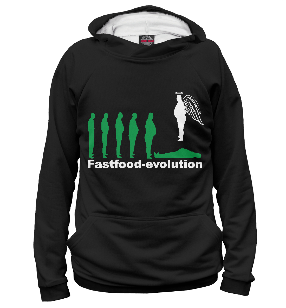 Купить Fastfood Evolution, Printbar, Худи, EDA-541617-hud-2