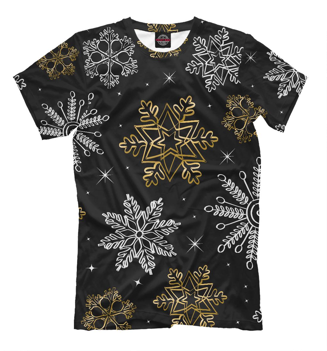 Купить Новогодние снежинки, Printbar, Футболки, NOV-842309-fut-2