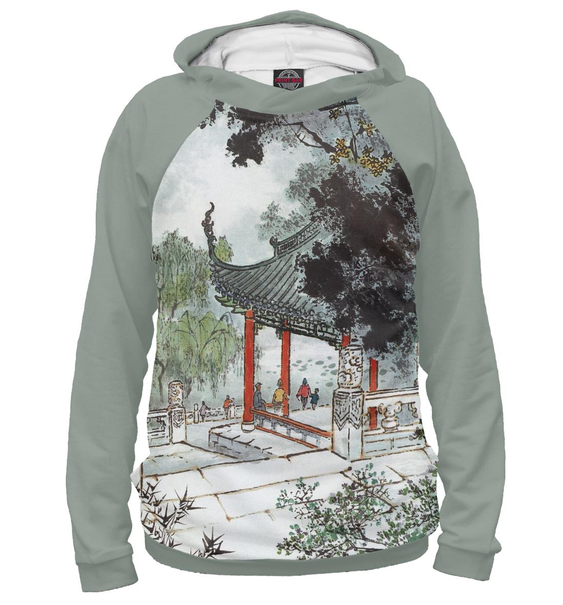 Купить Китайский акварельный рисунок, Printbar, Худи, GHI-835344-hud-1