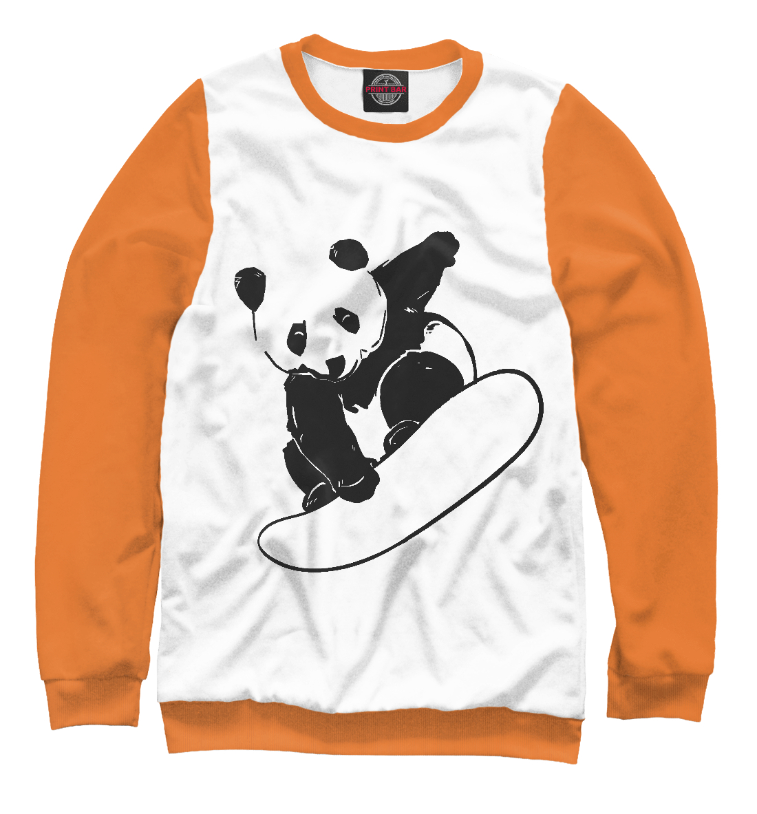 Купить Panda Snowboarder, Printbar, Свитшоты, SNW-693713-swi-2