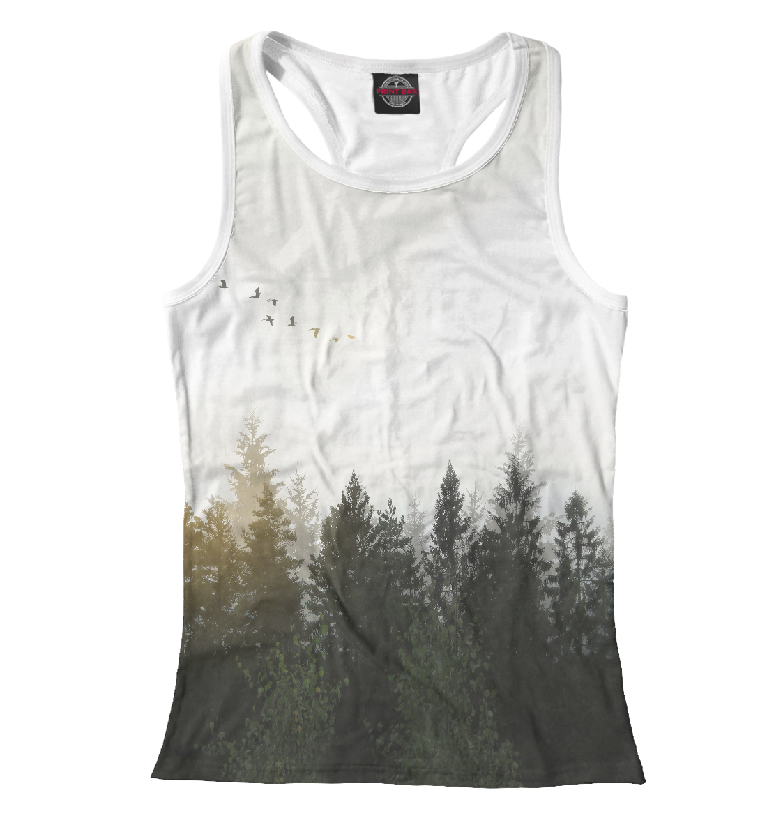 Купить Лесной пейзаж, Printbar, Майки борцовки, PEY-328282-mayb-1
