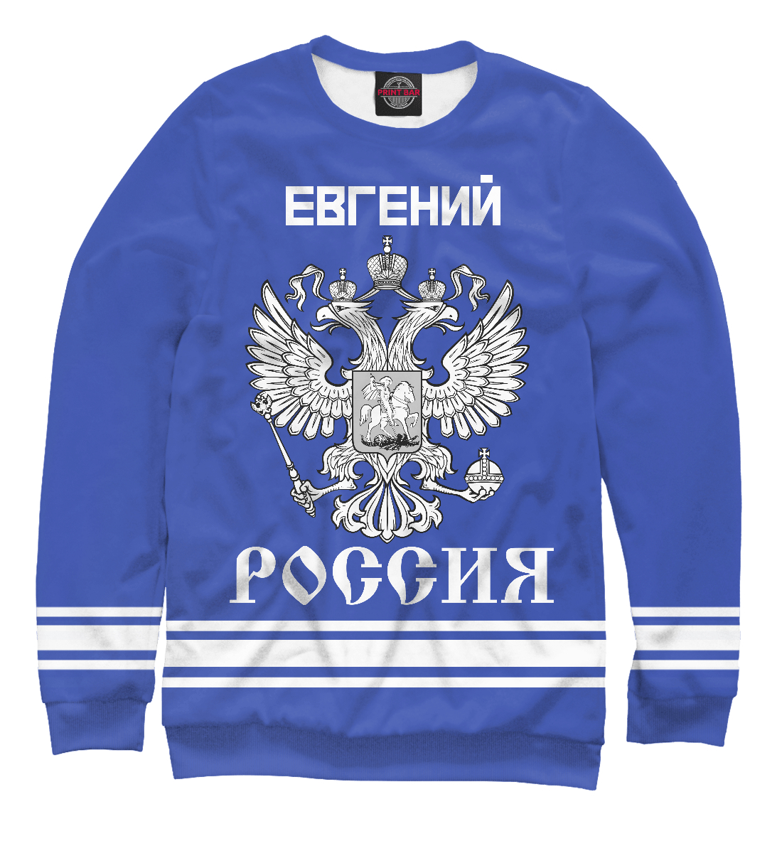 Купить ЕВГЕНИЙ sport russia collection, Printbar, Свитшоты, EVG-287467-swi-2