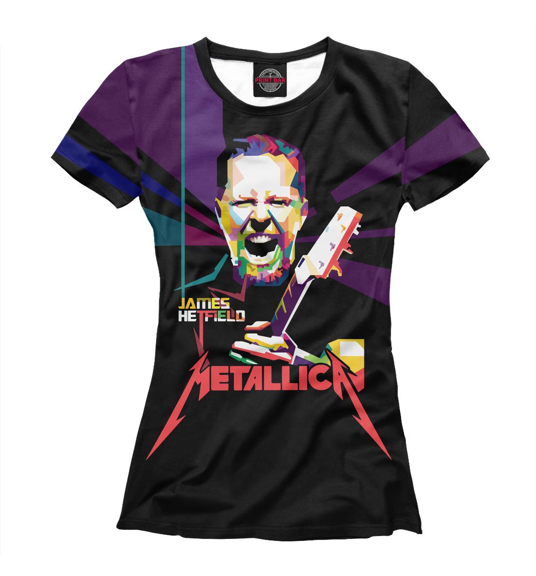 Купить Metallica James Alan Hatfield, Printbar, Футболки, MET-479170-fut-1