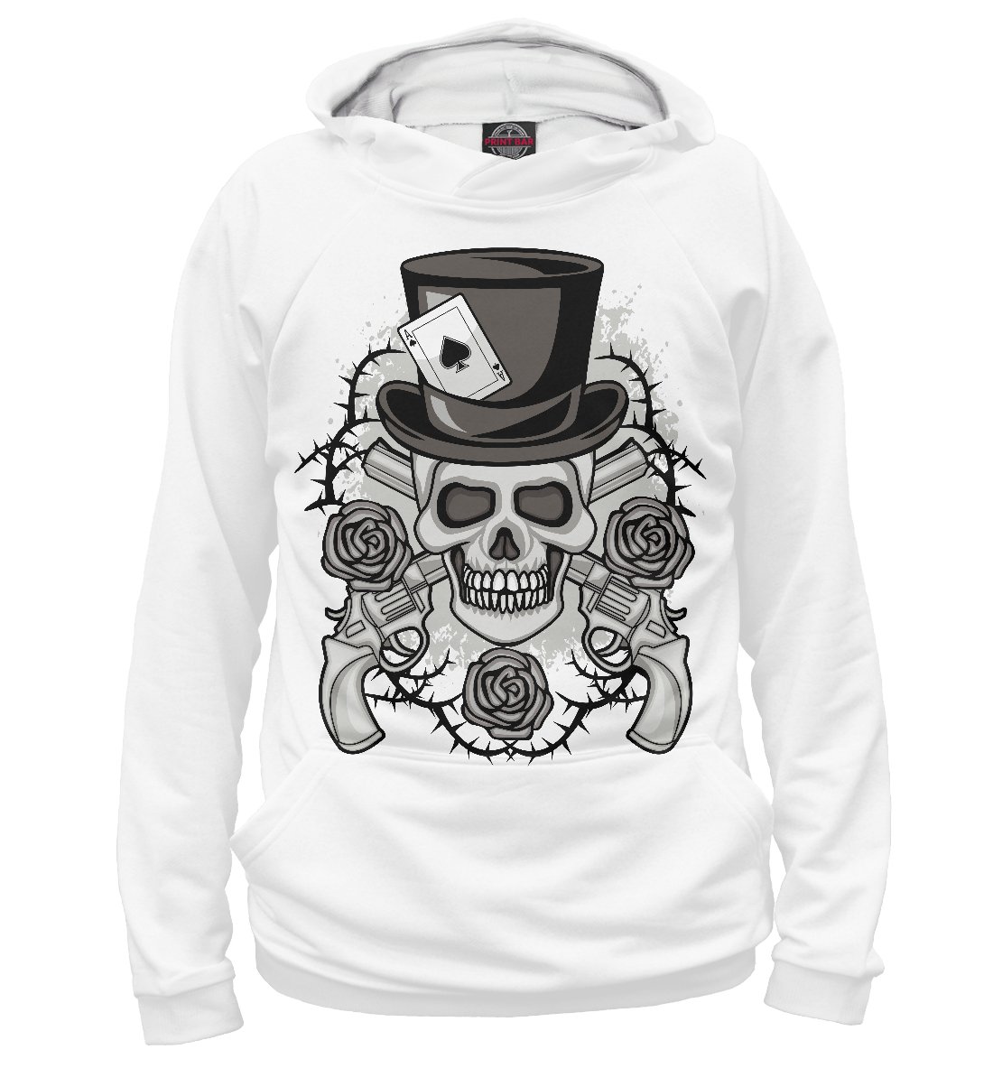 Skull in top hat