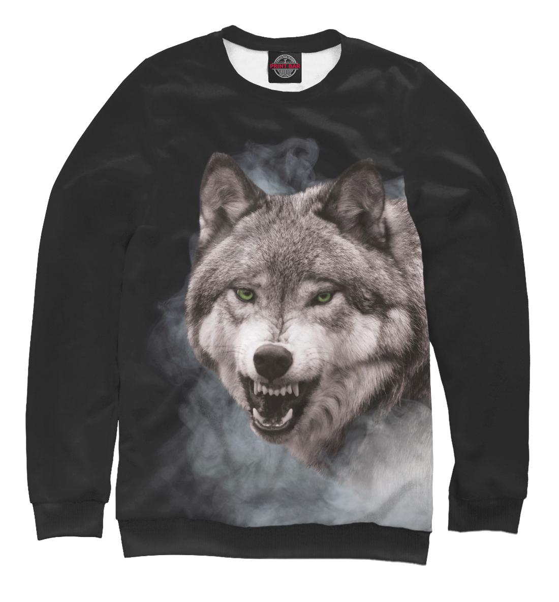 Купить Серый Волк в дымке, Printbar, Свитшоты, VLF-808679-swi-1