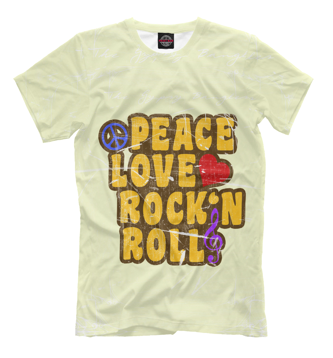 Купить Peace, Love, Rock*n roll, Printbar, Футболки, APD-127416-fut-2
