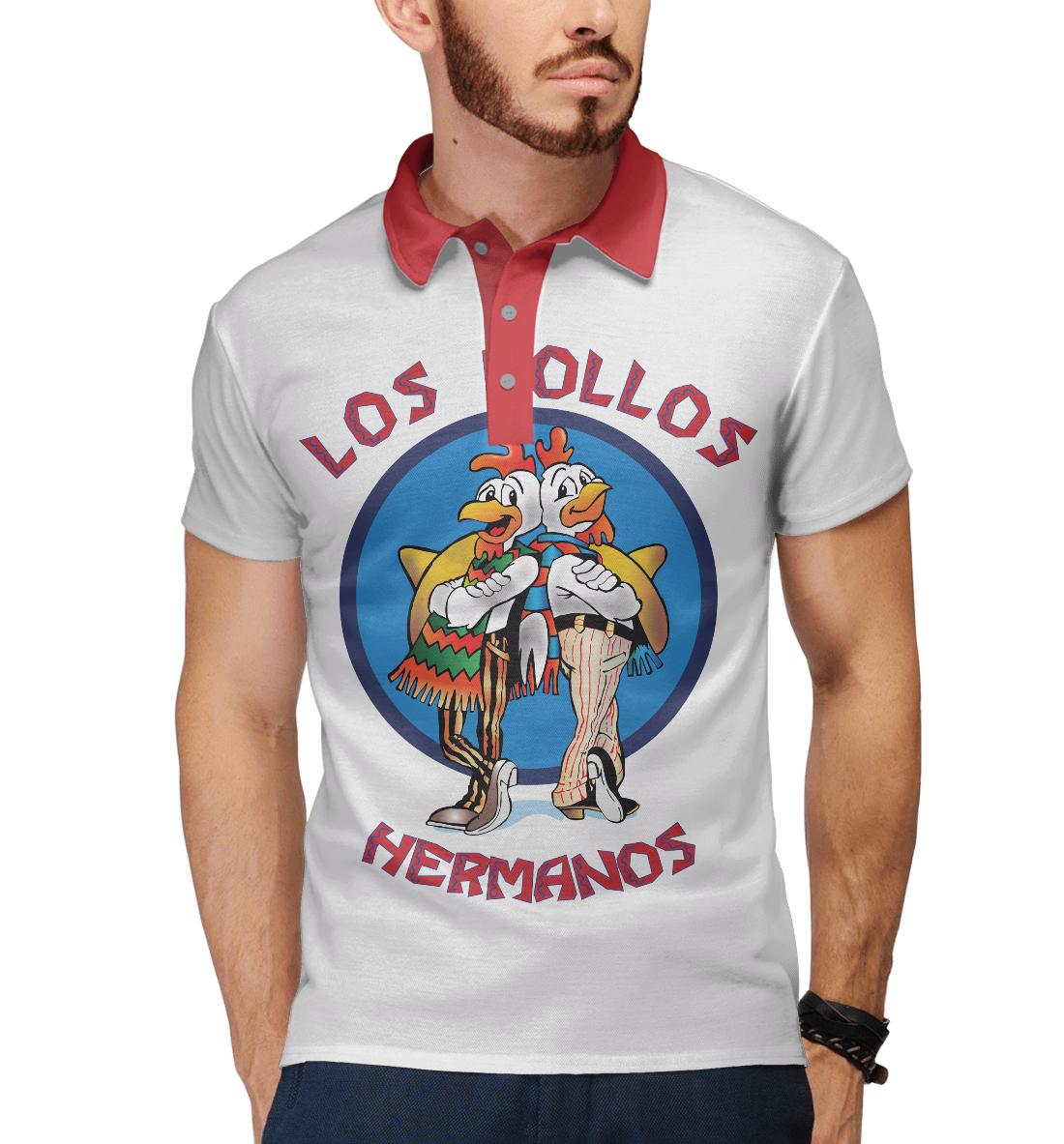 Купить Los Pollos Hermanos, Printbar, Поло, VVT-780401-pol-2