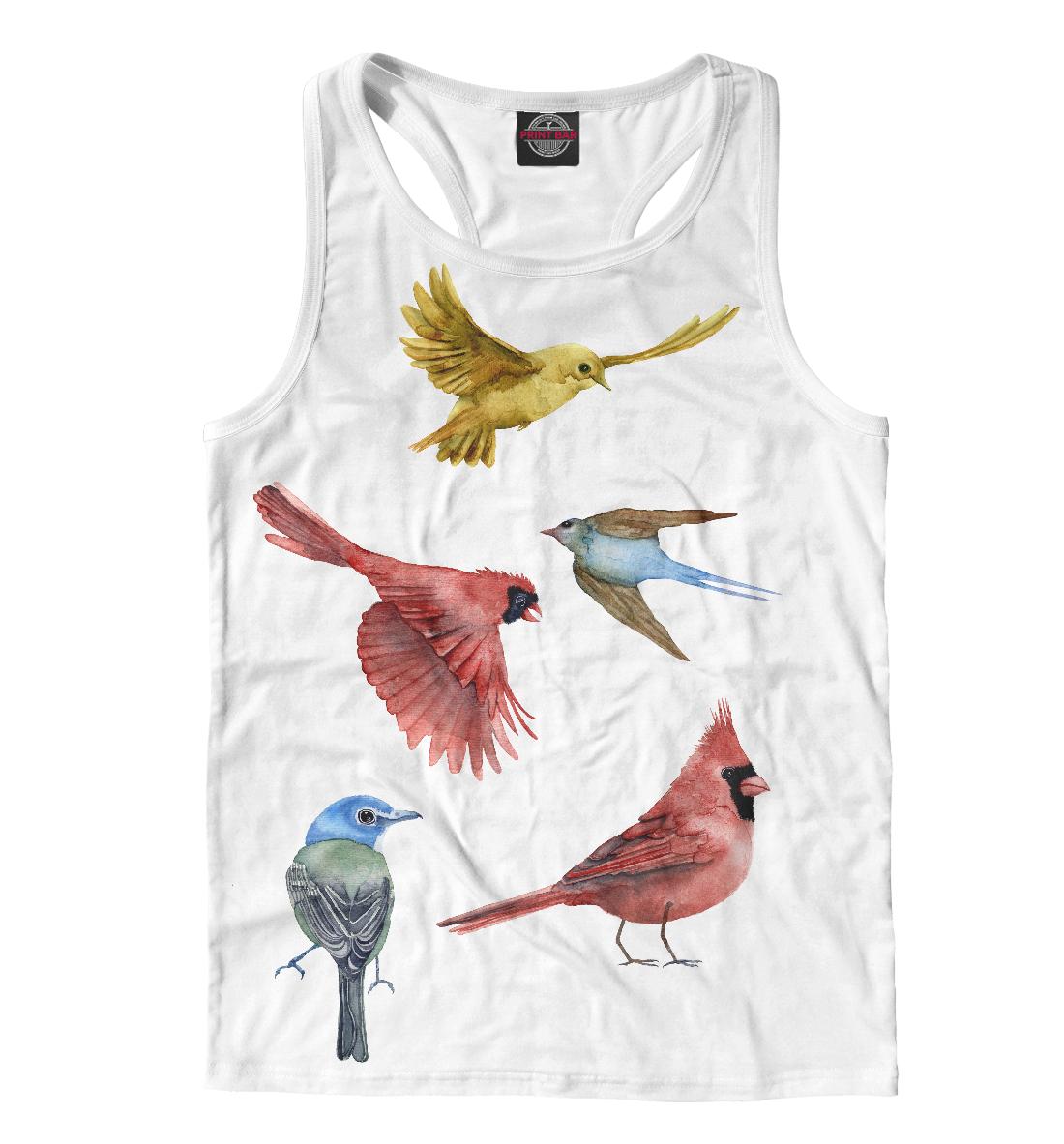 Купить Птицы, Printbar, Майки борцовки, PTI-875337-mayb-2