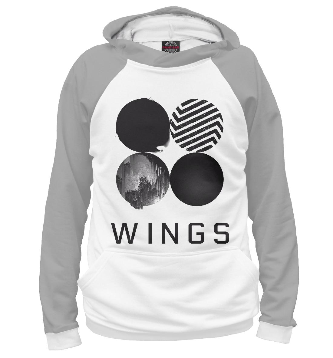 Купить Wings BTS, Printbar, Худи, KPP-850717-hud-2