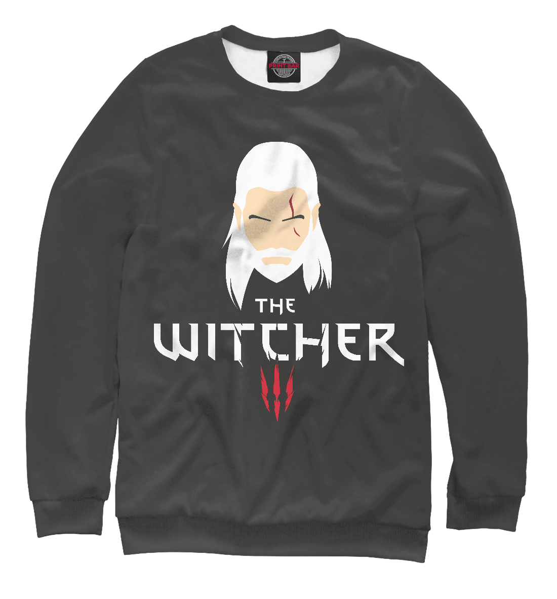 Купить The Witcher minimalism, Printbar, Свитшоты, WTR-112602-swi-2