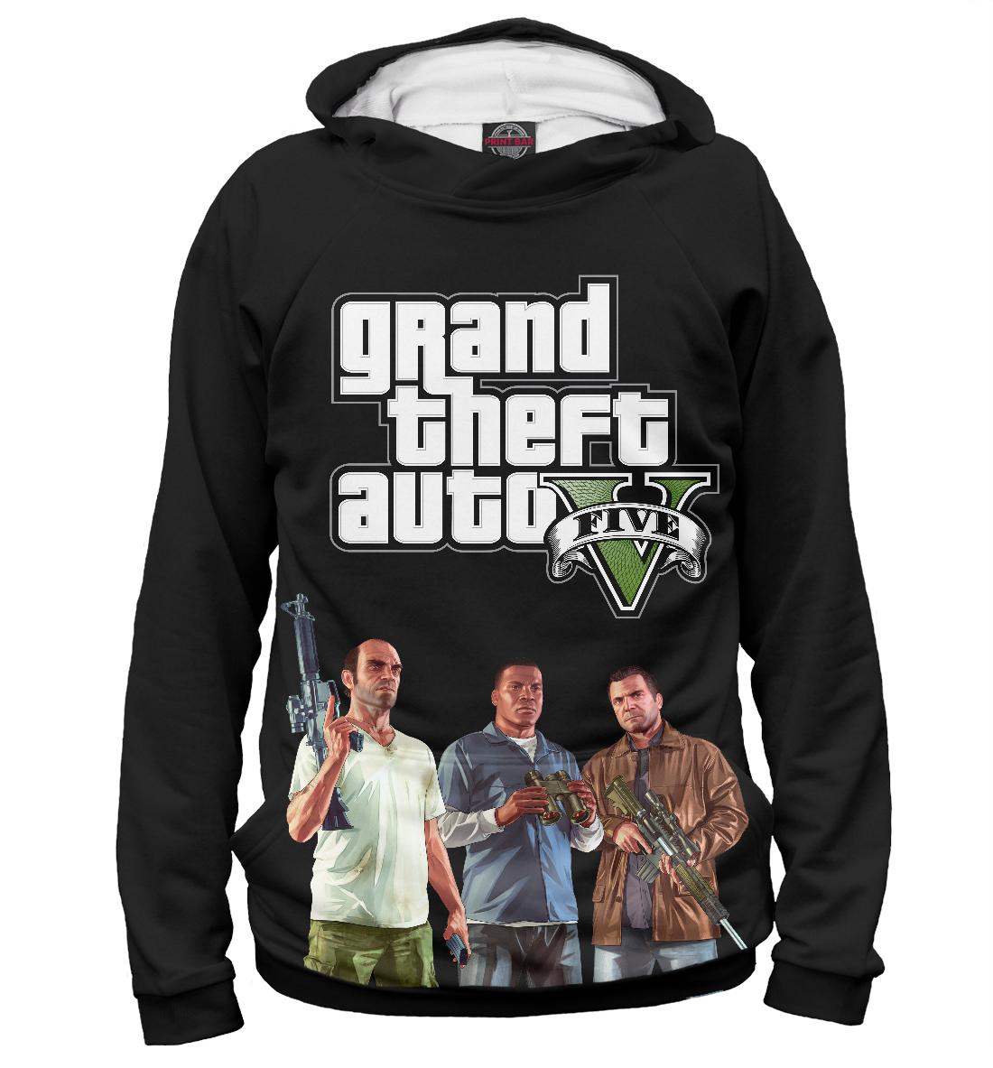 Купить Персонажи GTA 5, Printbar, Худи, ROC-893420-hud-1