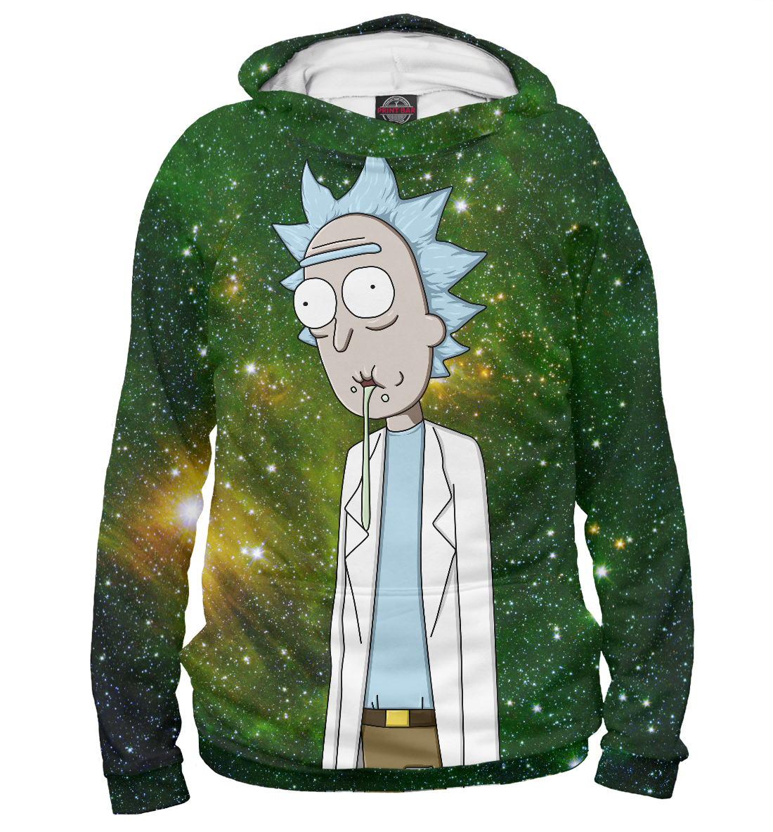 Rick and Morty In Space, Printbar, Худи, RNM-928089-hud-2  - купить со скидкой