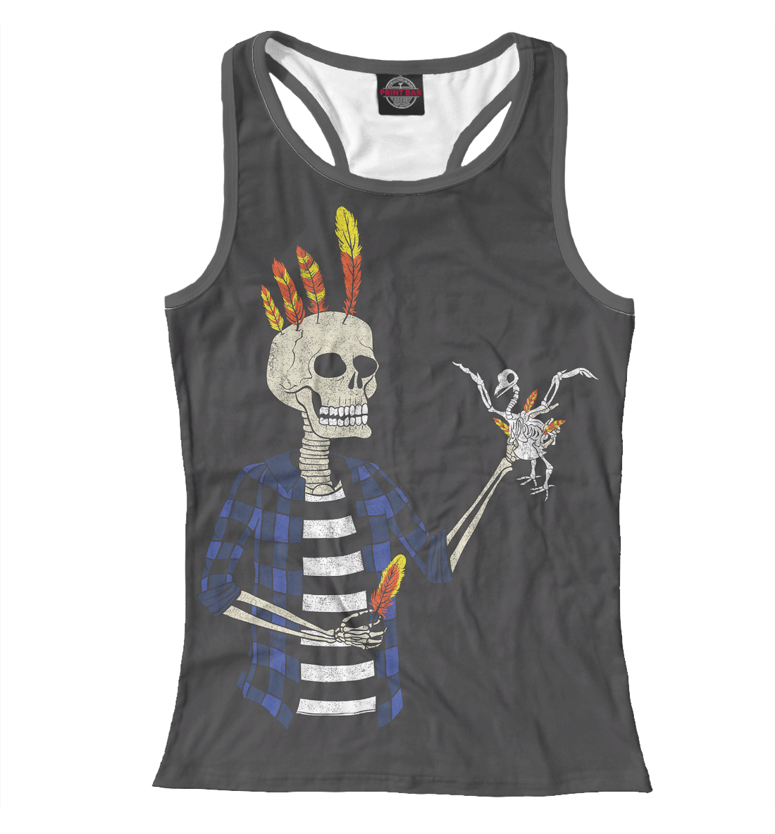 Купить Hipster Skeleton, Printbar, Майки борцовки, HIP-321402-mayb-1