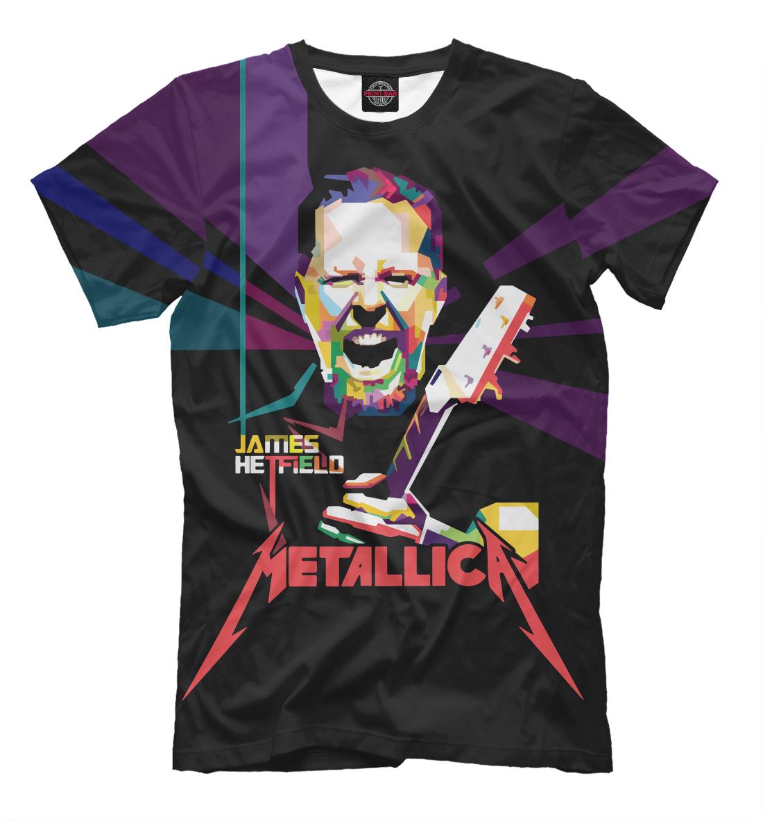 Купить Metallica James Alan Hatfield, Printbar, Футболки, MET-479170-fut-2