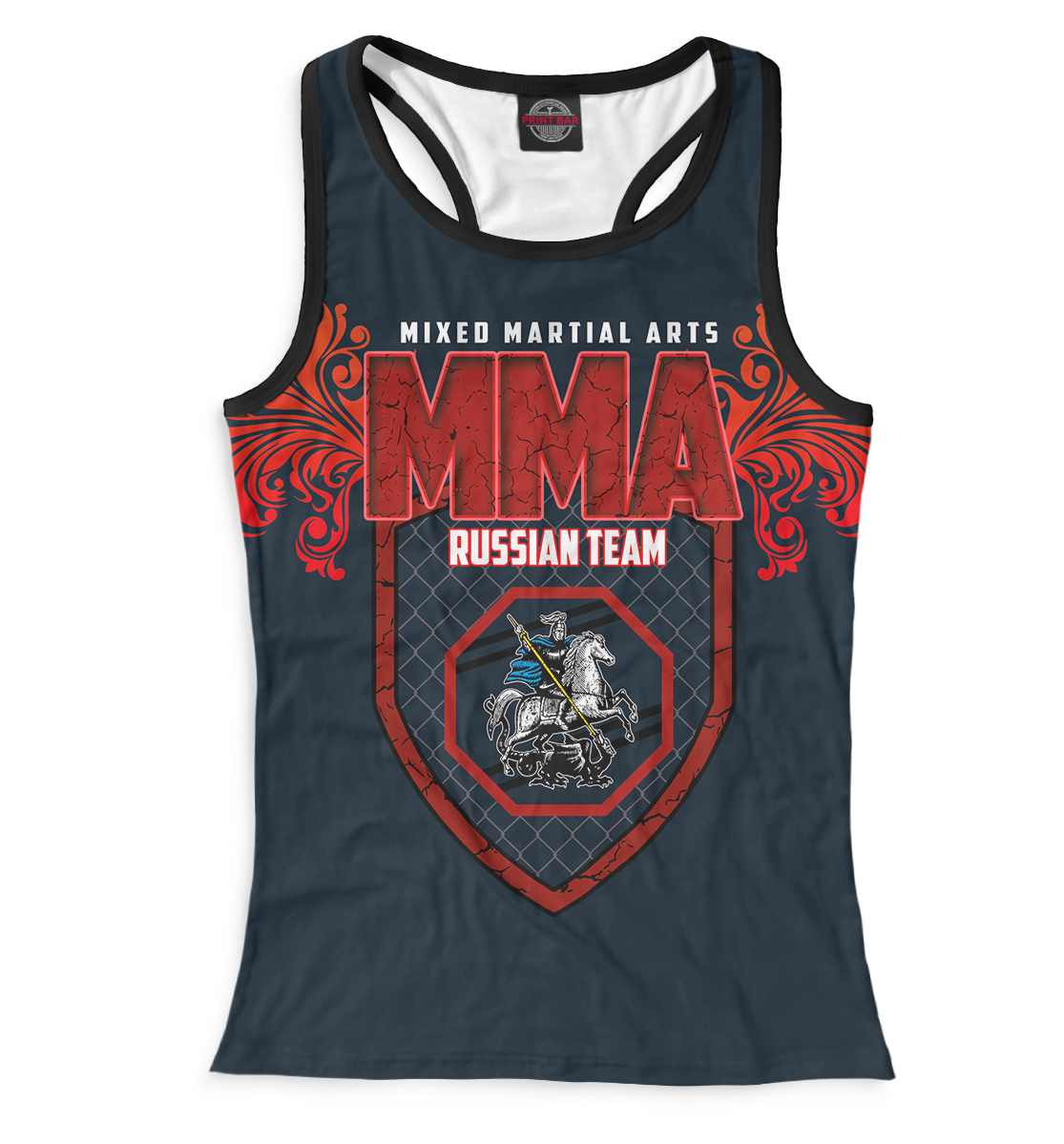 Купить MMA Russian Team, Printbar, Майки борцовки, MNU-874725-mayb-1