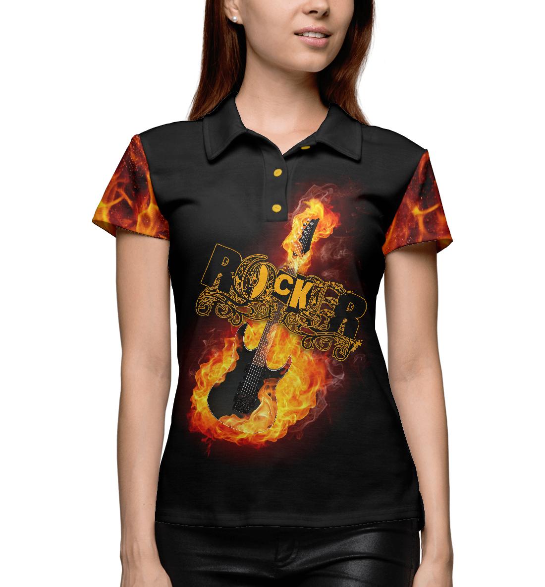 Купить Fire Guitar Rocker, Printbar, Поло, MZK-846965-pol-1