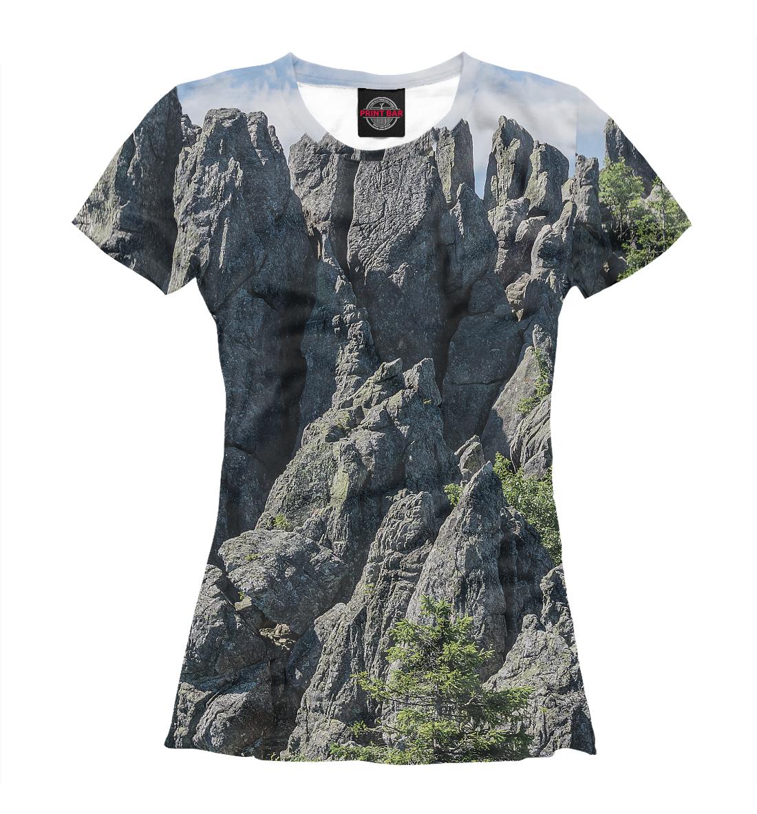 Купить Горный пейзаж парка Таганай, Printbar, Футболки, VSY-138797-fut-1