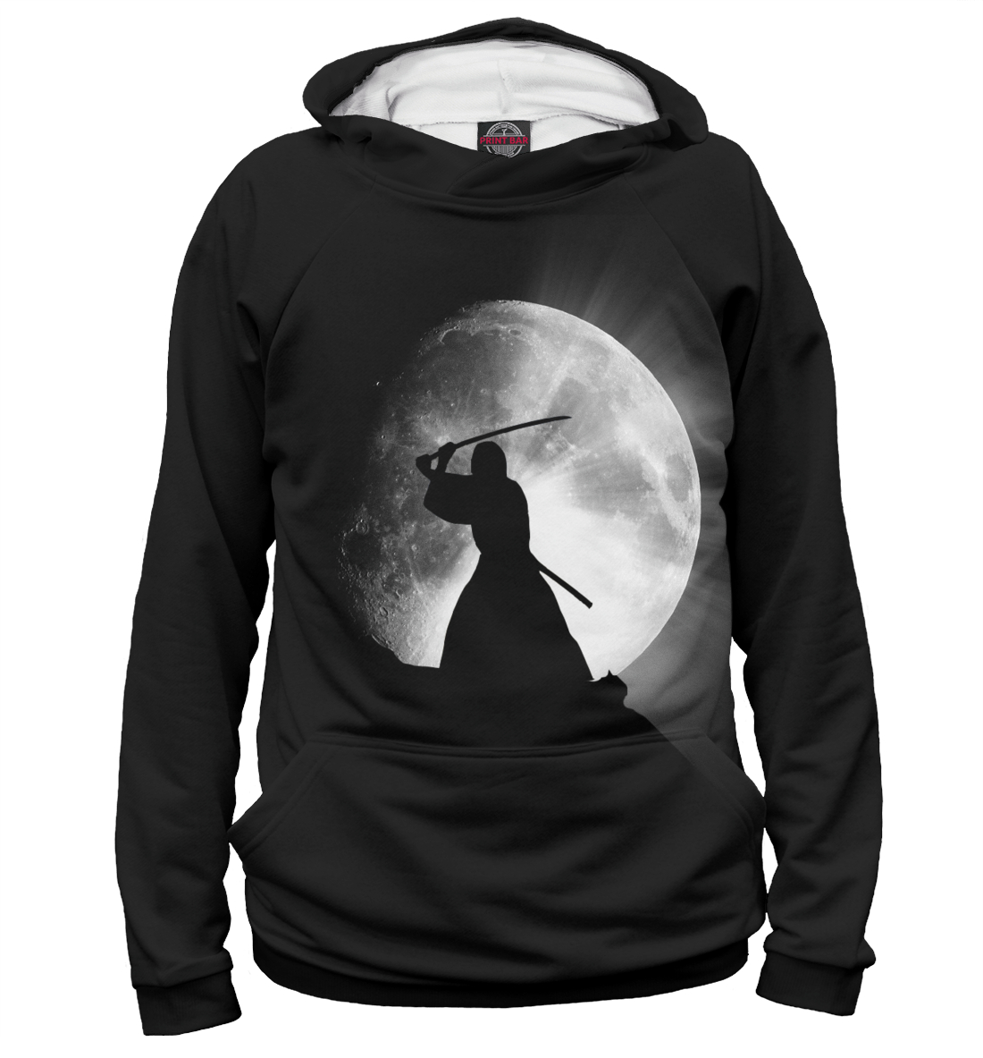 Купить Самурай и луна, Printbar, Худи, EDI-513404-hud-1