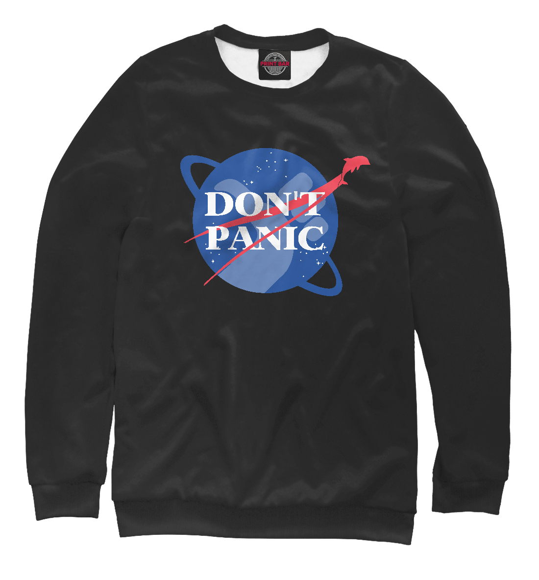 Купить NASA Dont Panic, Printbar, Свитшоты, HIP-915662-swi-2