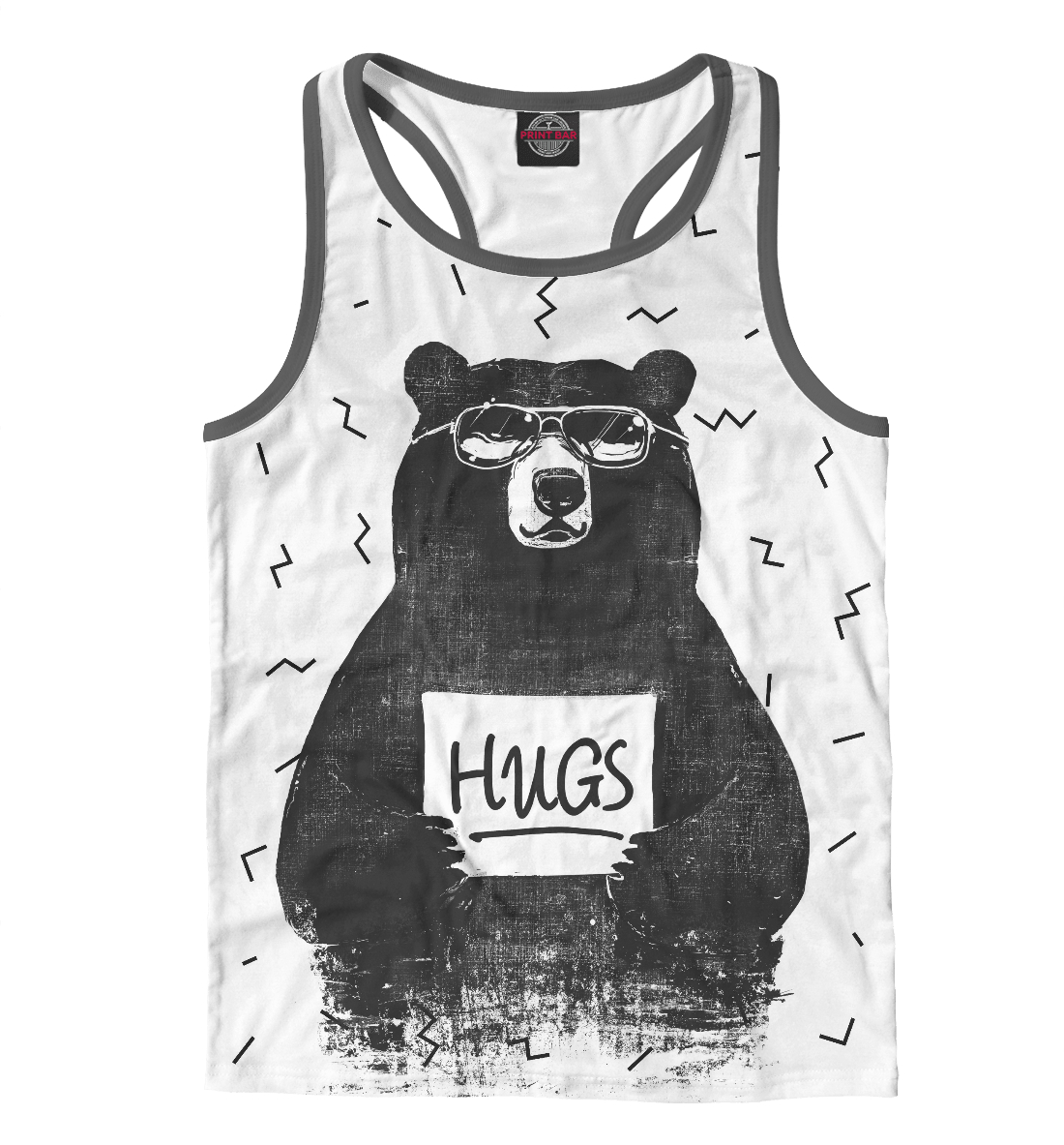 Купить Bear Hugs, Printbar, Майки борцовки, MED-530931-mayb-2