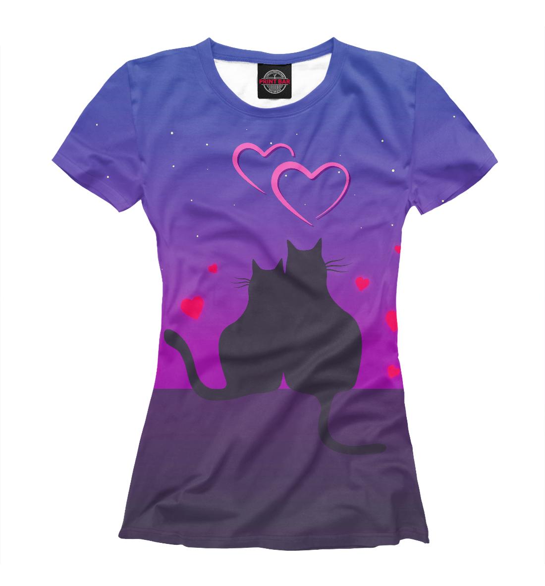 Купить Cat's desire. Парные футболки., Printbar, Футболки, 14F-763648-fut-1