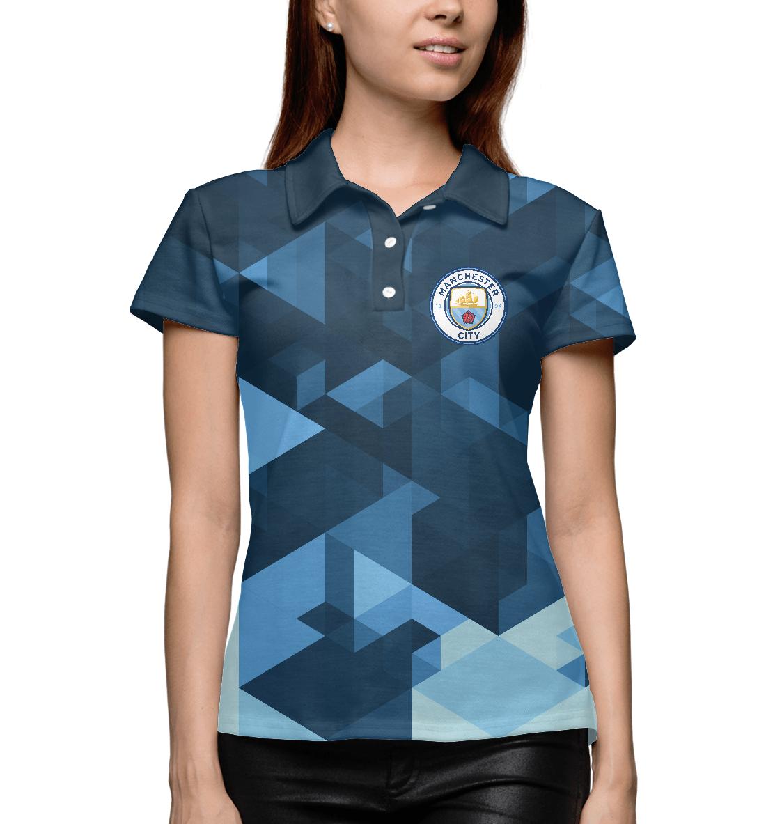 Купить Manchester City Abstract, Printbar, Поло, MNC-929386-pol-1