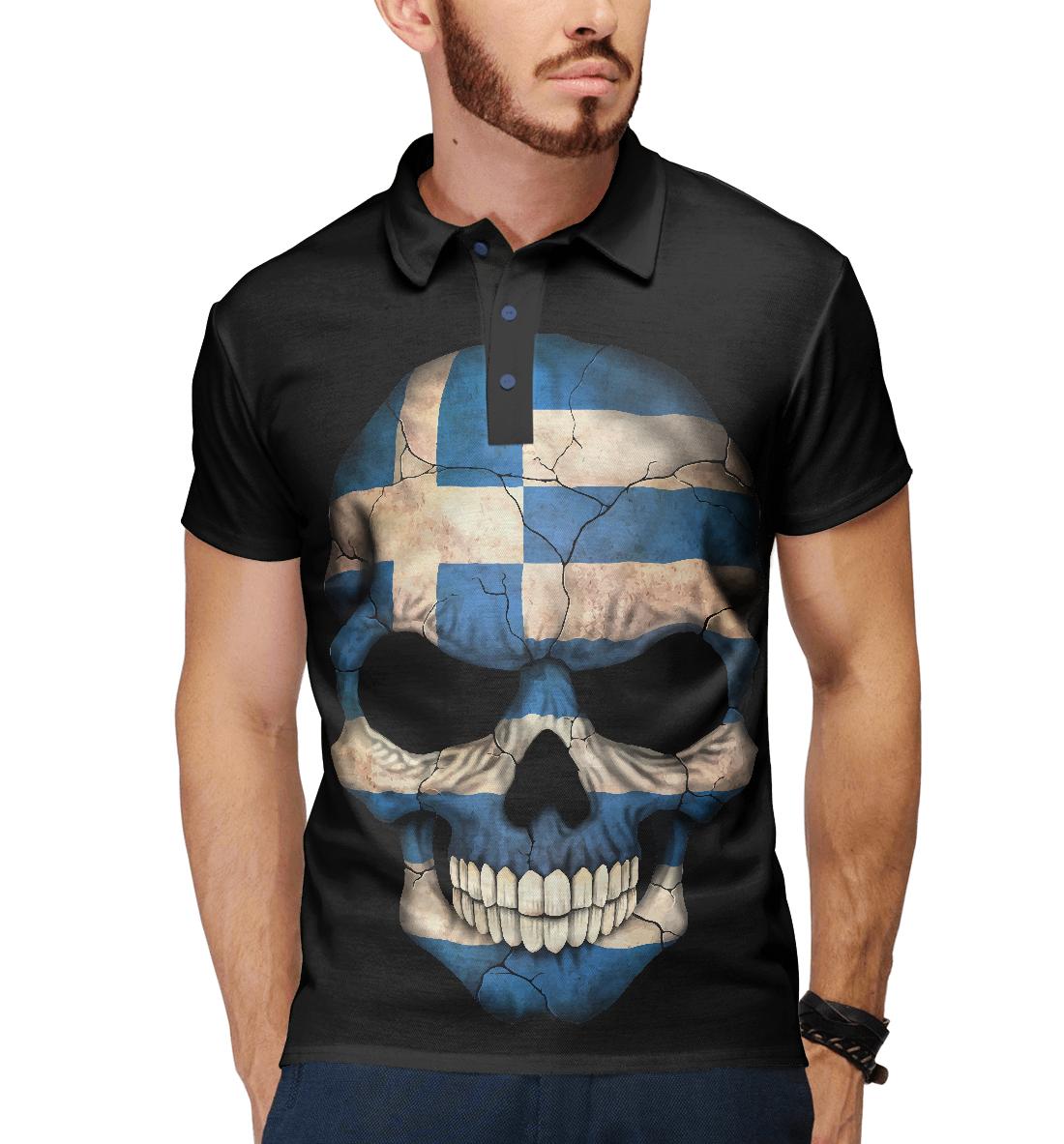 Купить Череп - Греция, Printbar, Поло, CTS-687350-pol-2