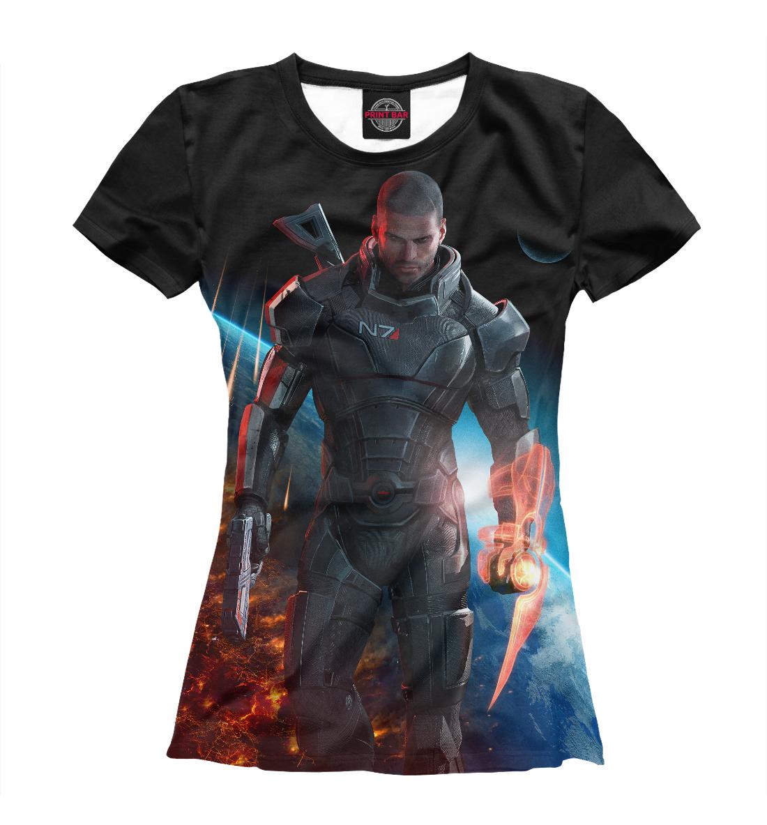 Купить Mass Effect — Шепард, Printbar, Футболки, RPG-414208-fut-1