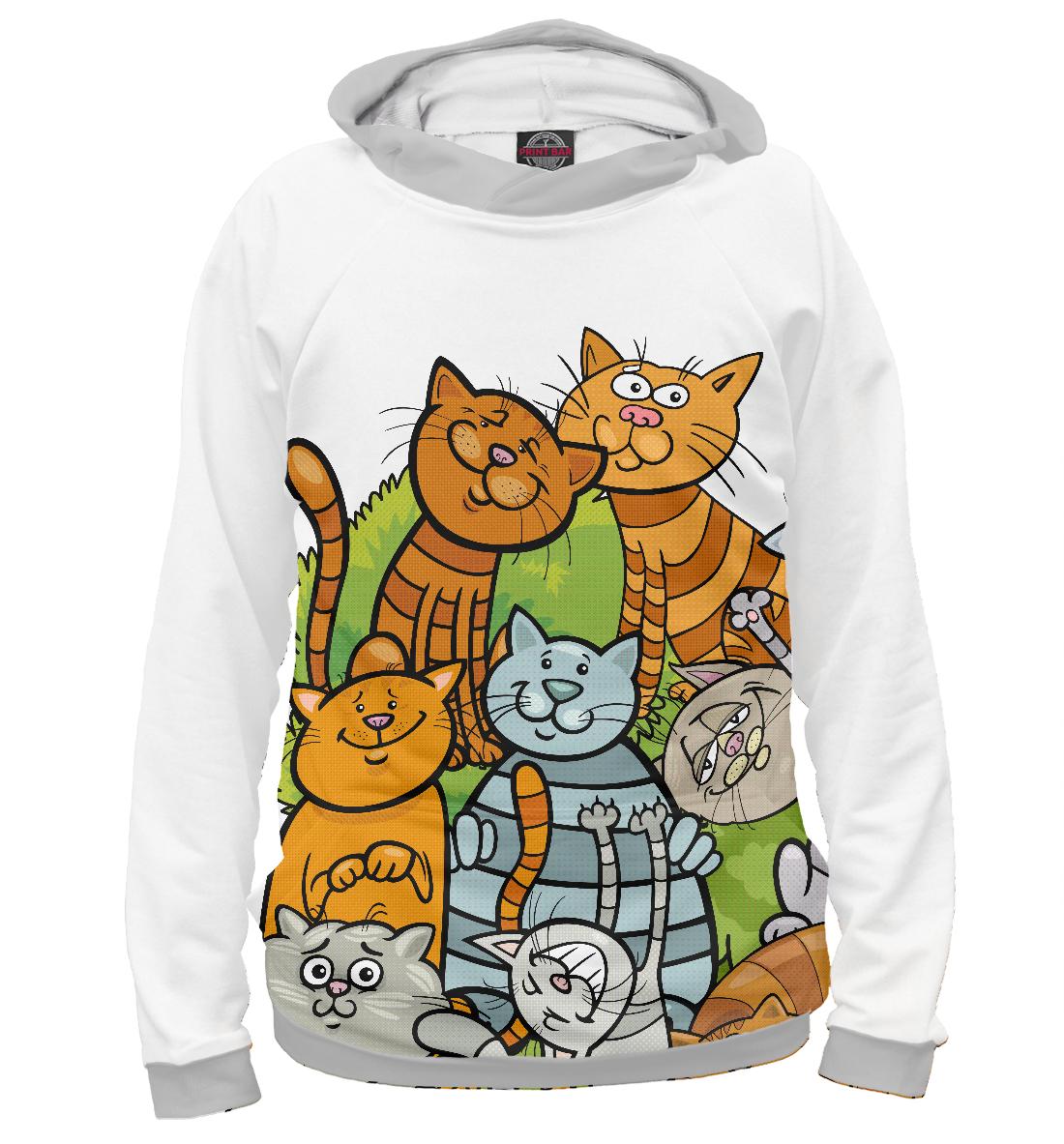 Купить Веселые коты, Printbar, Худи, CAT-880097-hud-2
