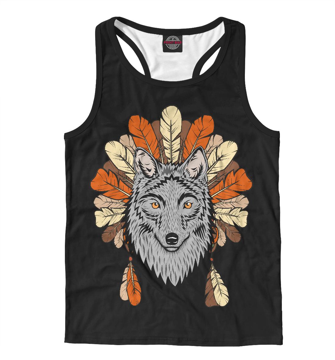 Купить Волк индеец, Printbar, Майки борцовки, VLF-582521-mayb-2