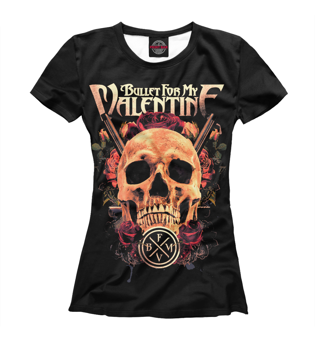 Купить Bullet for My Valentine Skull, Printbar, Футболки, BMV-738671-fut-1