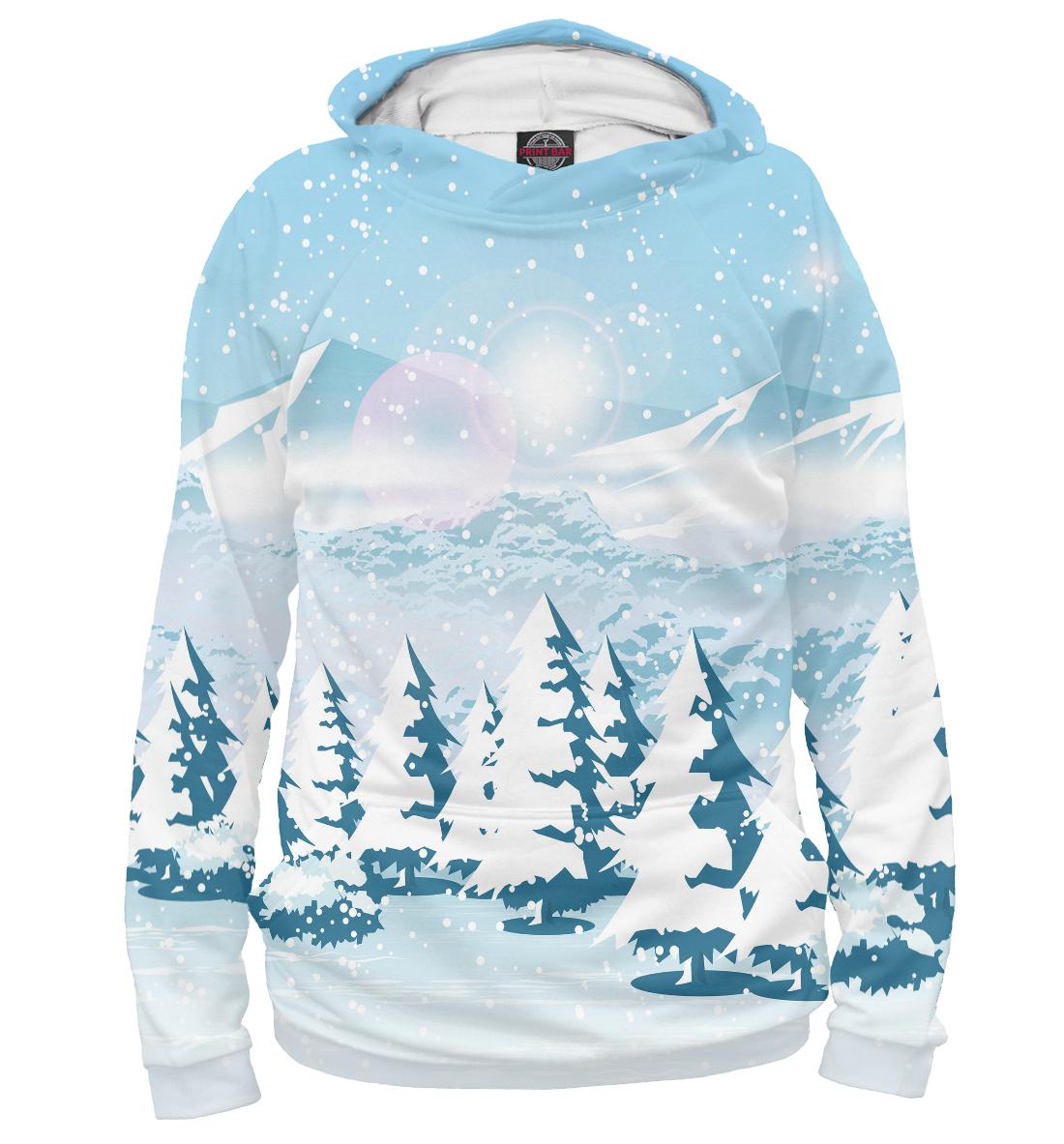 Зимний пейзаж, Printbar, Худи, PEY-100044-hud-1  - купить со скидкой