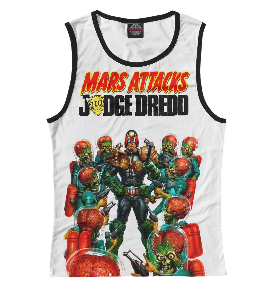 Купить Mars attacks Judge Dredd, Printbar, Майки, CMX-464028-may-1