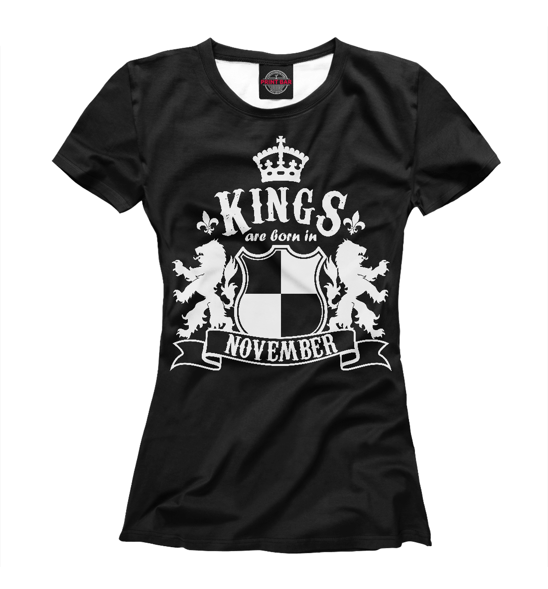 Купить Короли рождаются в ноябре, Printbar, Футболки, DRZ-976982-fut-1