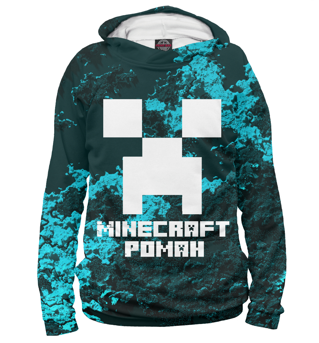Купить Роман-Minecraft, Printbar, Худи, ROM-681371-hud-2