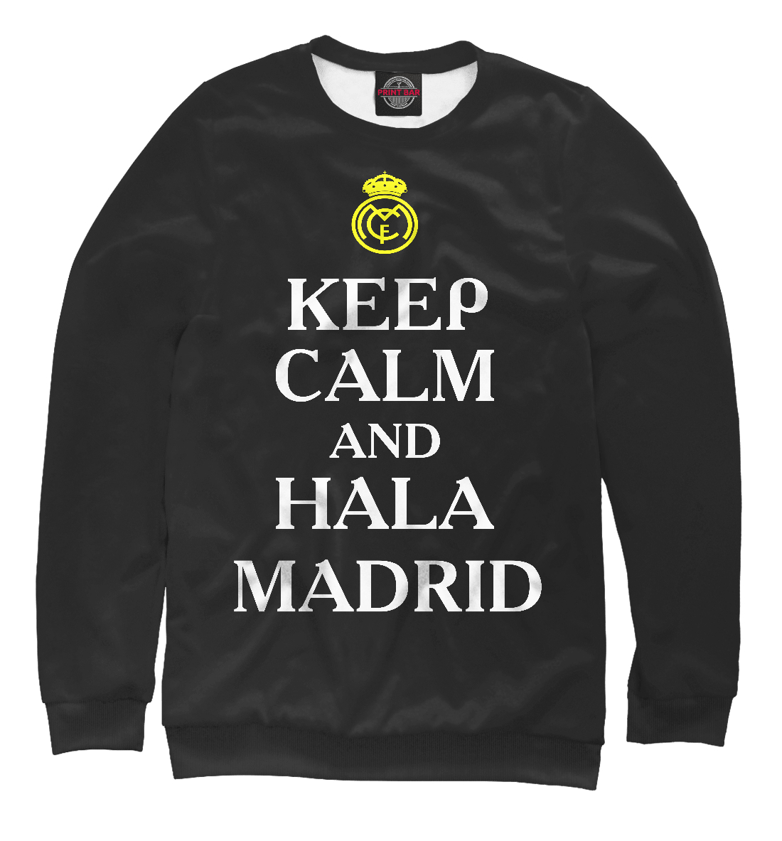 Купить Keep calm and Hala Madrid, Printbar, Свитшоты, REA-134498-swi-2