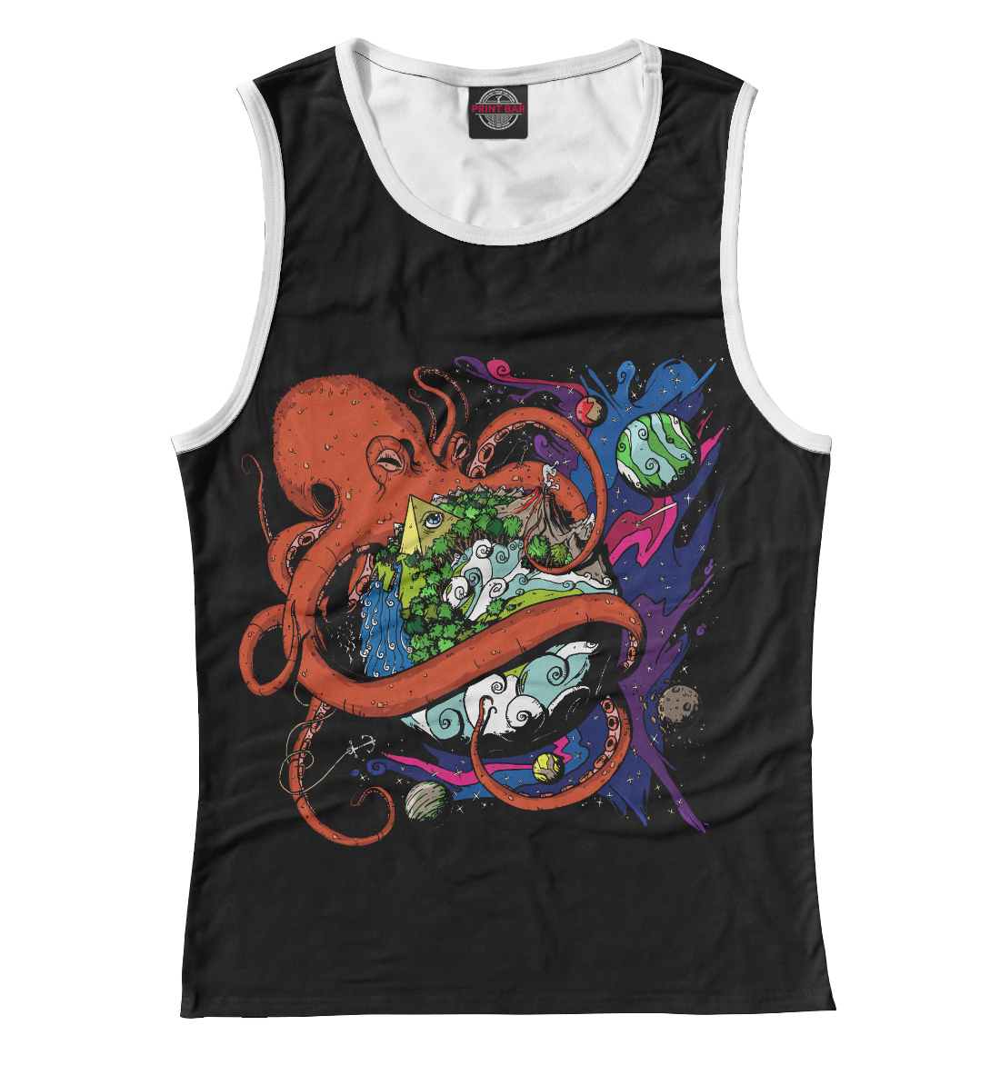 Купить Octopus World, Printbar, Майки, SUR-352778-may-1