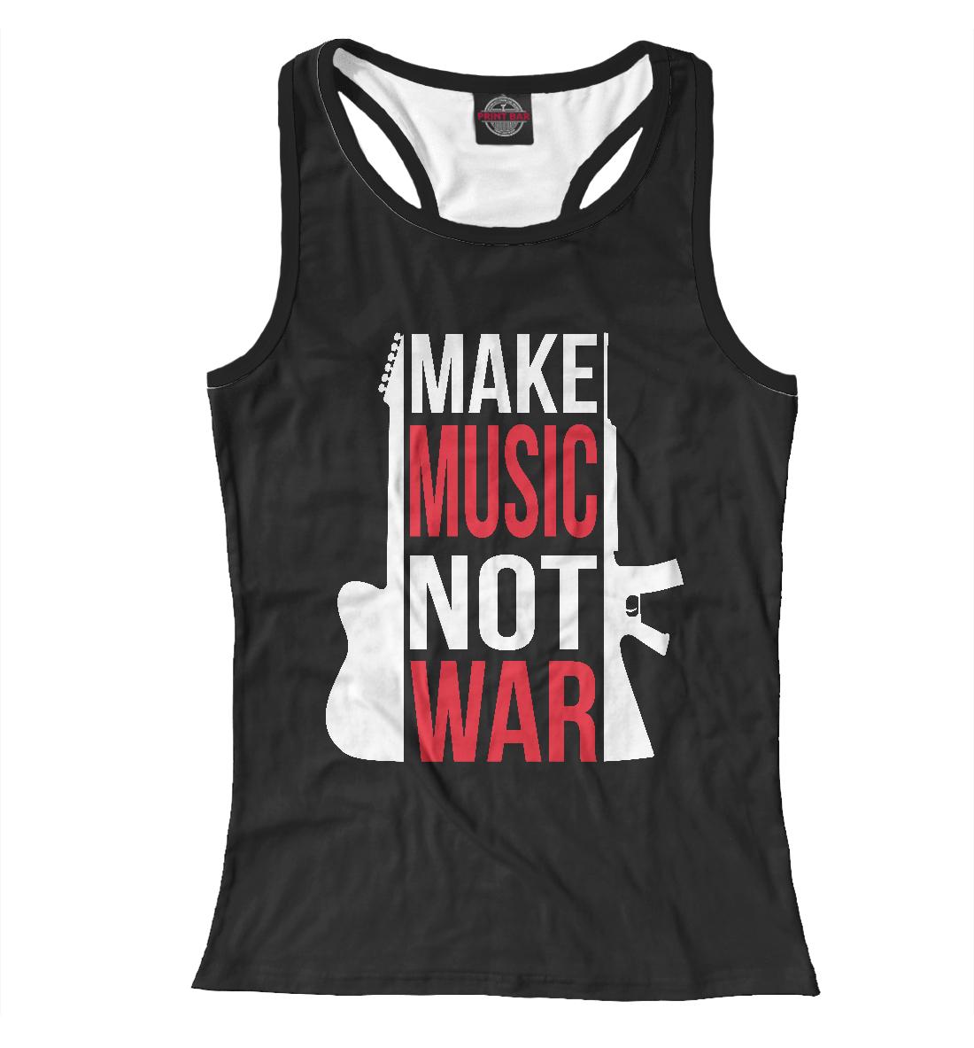 Купить Make Music not war, Printbar, Майки борцовки, RCK-622635-mayb-1