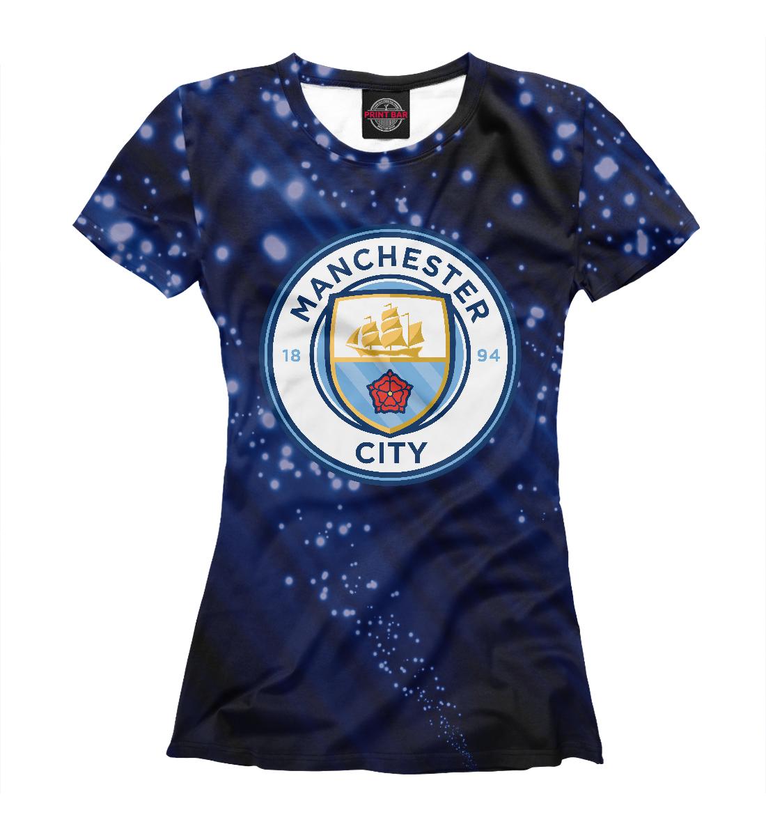 Купить FC Manchester City Abstract, Printbar, Футболки, MNC-139119-fut-1